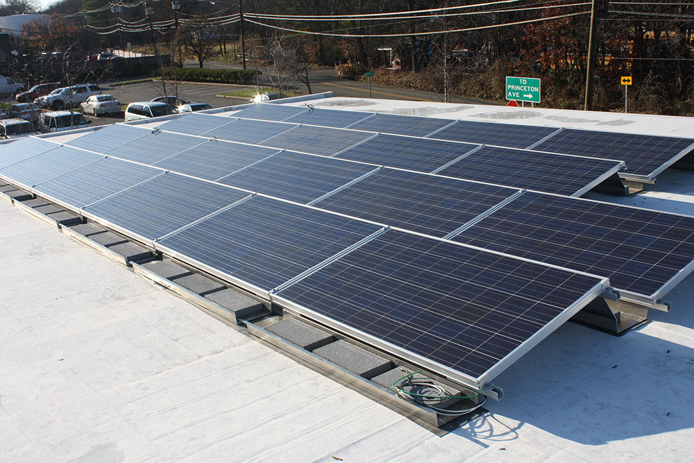 Lasley Brahaney Architecture + Construction's photovoltaic system (solar panel system).