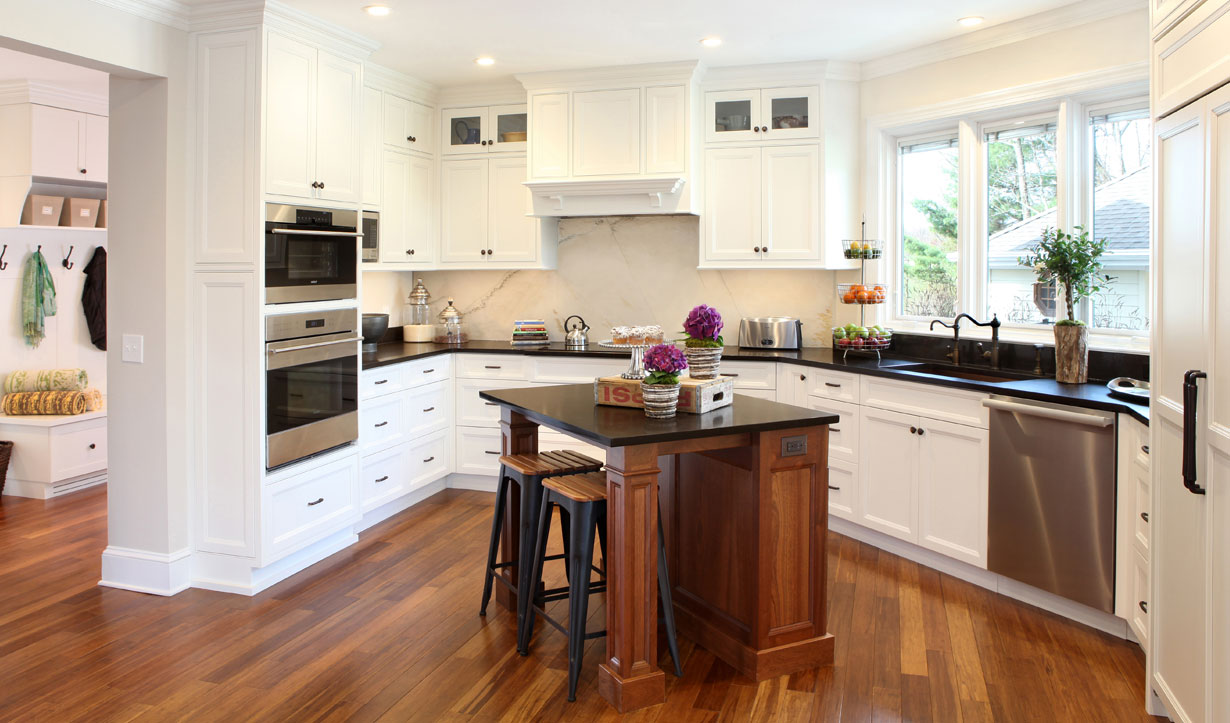 Wheelchair accessible kitchen designed by architect firm Lasley Brahaney Architecture + Construction in Princeton, NJ