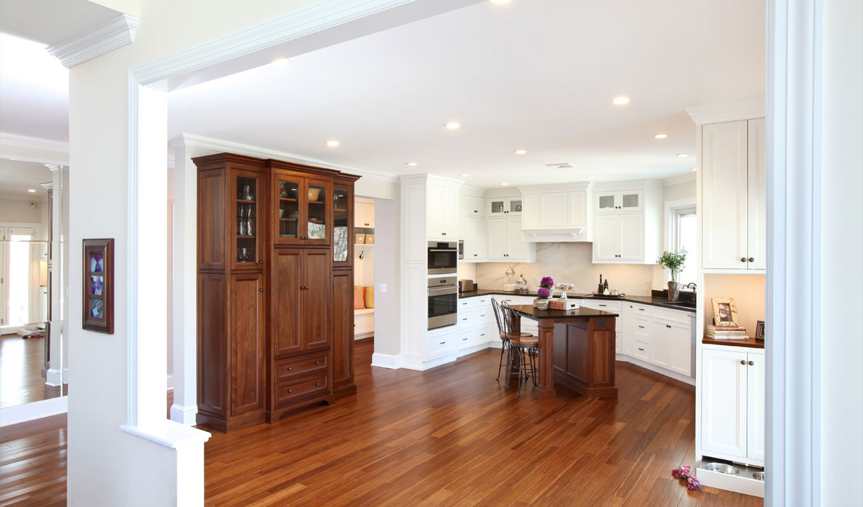 Open kitchen renovated by building company Lasley Brahaney Architecture + Construction in Princeton, NJ