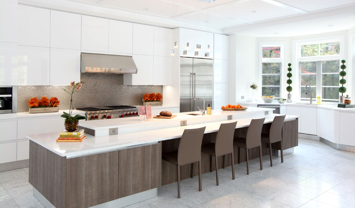 Large kitchen renovation by architect firm Lasley Brahaney Architecture + Construction in Princeton, NJ