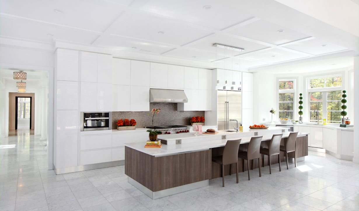 Floor to ceiling kitchen cabinets designed by building company Lasley Brahaney Architecture + Construction in Princeton, NJ