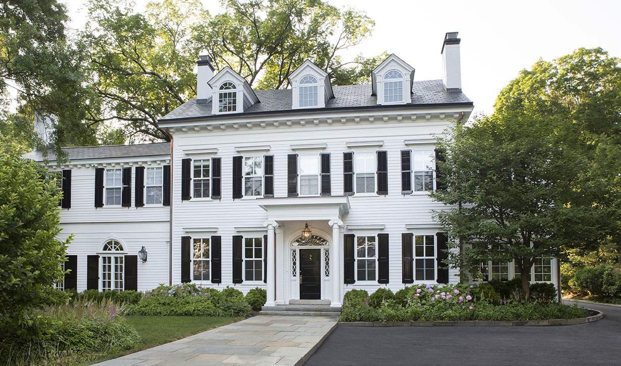 Stately colonial home lasley brahaney architecture - Colonial house exterior renovation ideas ...